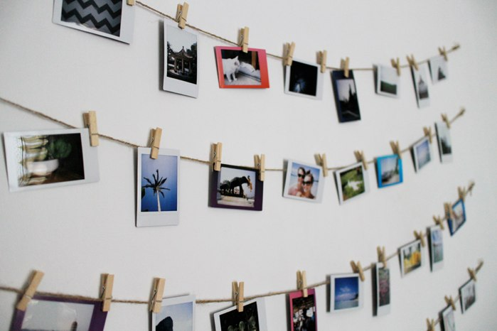 decorar fotos pared