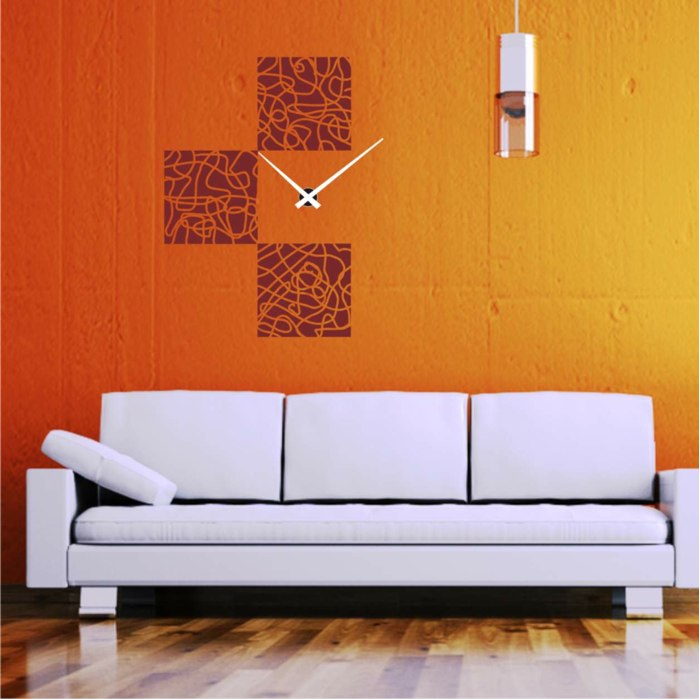 Reloj pared salon beautiful d moderno moda diy reloj for A line salon corte madera