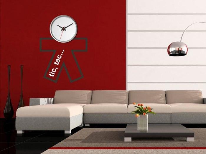 Decorar con relojes de pared - Reloj vinilo decorativo ...