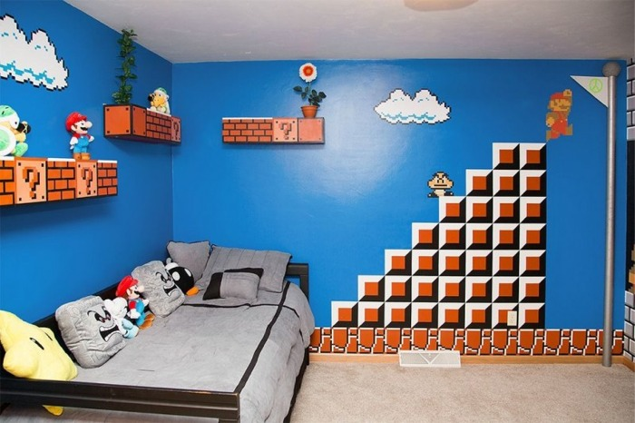 Dormitorio niños Mario Bros