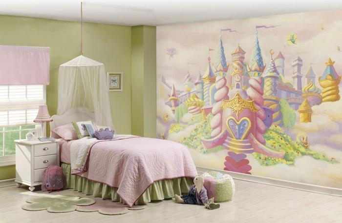 Dormitorio niña castillo