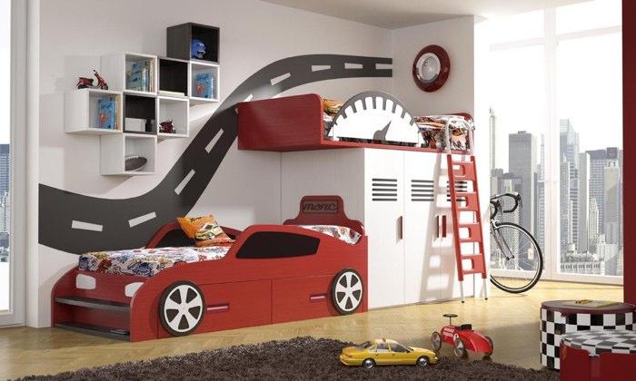 Dormitorio niños coche