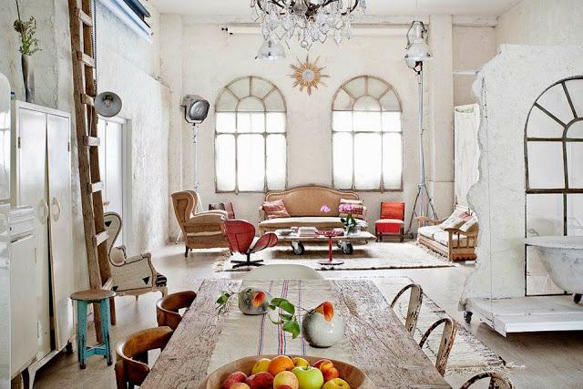 salon vintage blanco