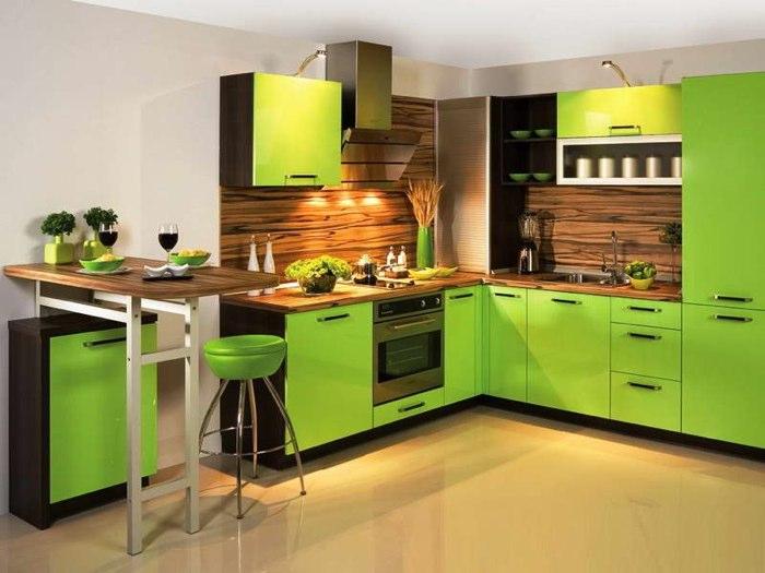 cocina moderna verde