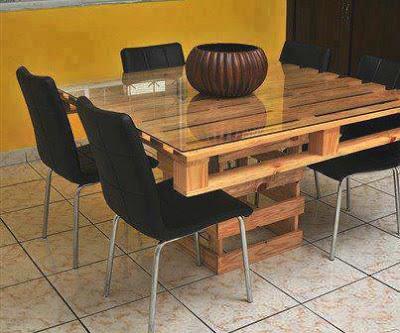 Diy mesas hechas con palets for Mesa alta comedor