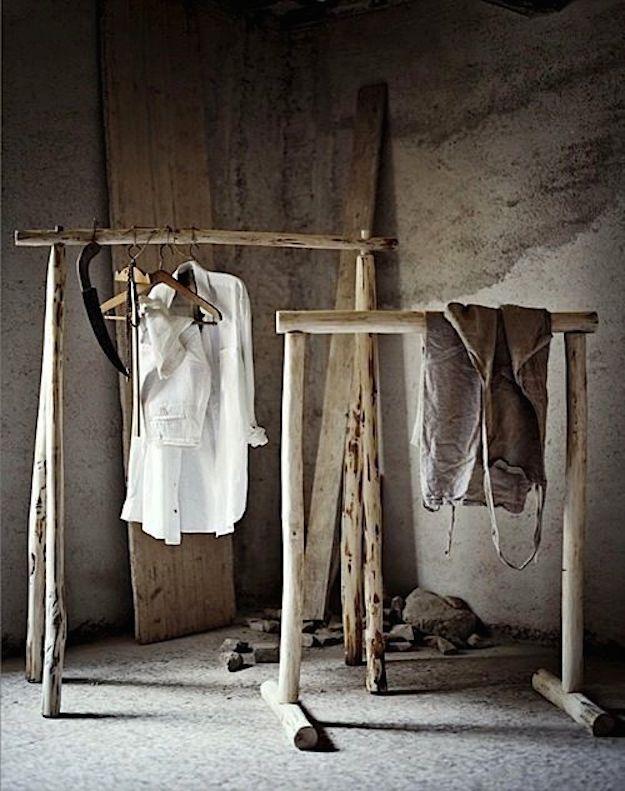 colgadores de madera