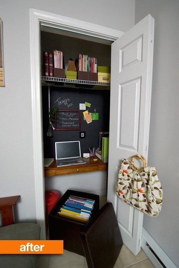 Montar una oficina dentro de un armario - Armarios para montar ...